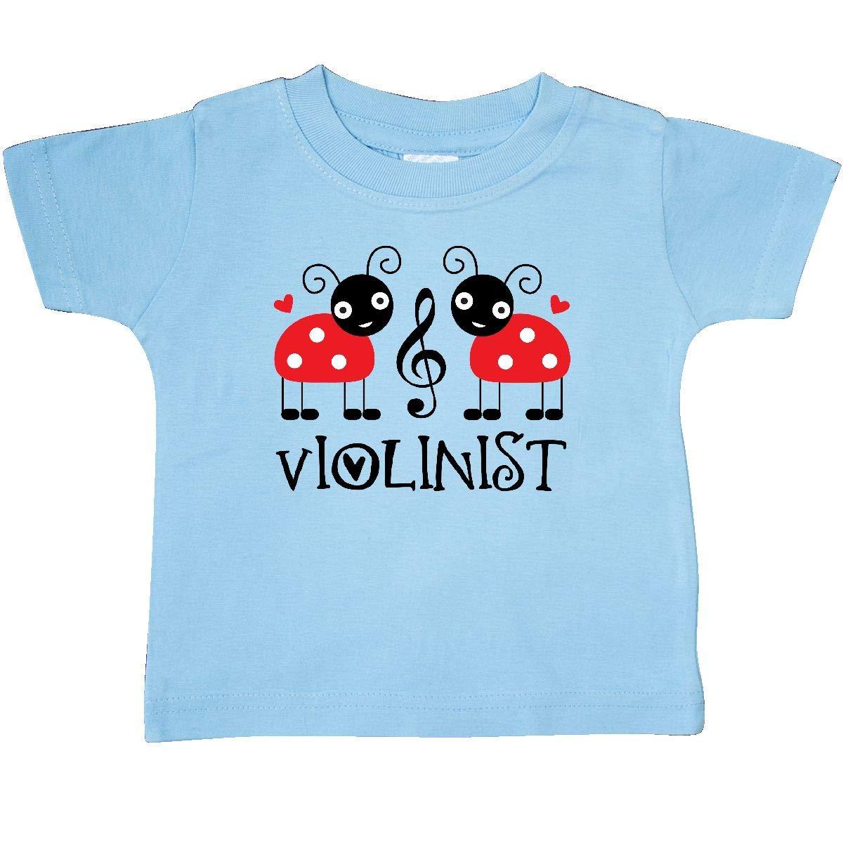 inktastic Red Ladybug Violin Baby T-Shirt