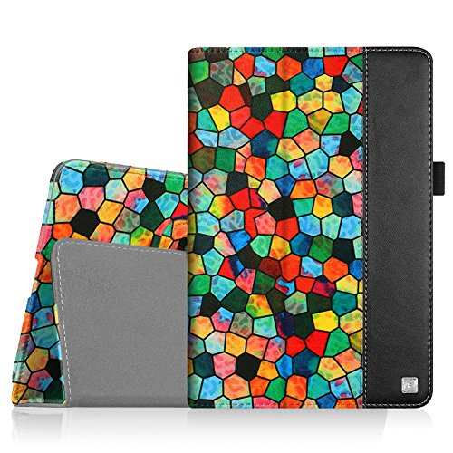 Fintie iPad mini 4 Case - Premium PU Leather Folio Case with Smart Cover Auto Sleep / Wake Feature for Apple iPad mini 4 Released on 2015, Stained Glass Mosaic (Stained Glass Ipad Mini Case)