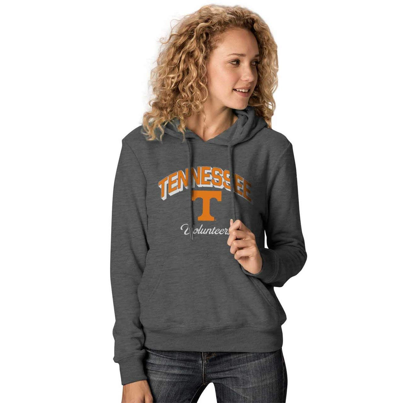 Tennessee Volunteers Womens Premium Campus Classic Goodie Hoodie Charcoal