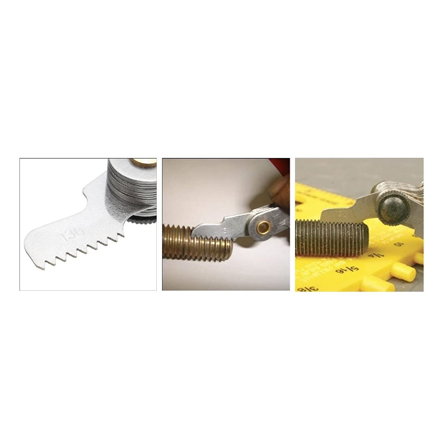 52 Blade Screw Pitch Thread Gauge for Measuring Imperial//Metric Nuts /& Bolts