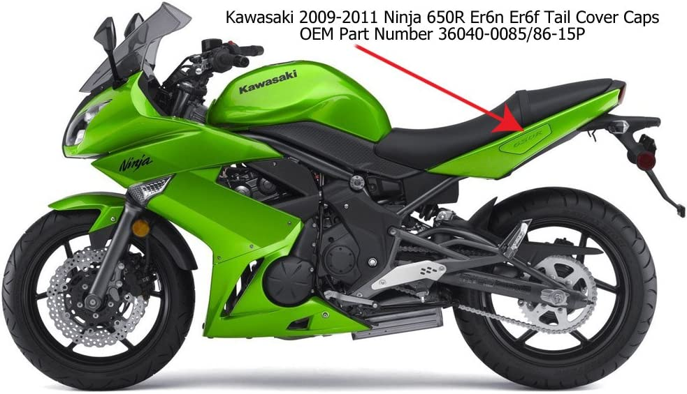 Amazon.com: 2008-2011 Kawasaki Ninja 650 Grab Rail Tail ...