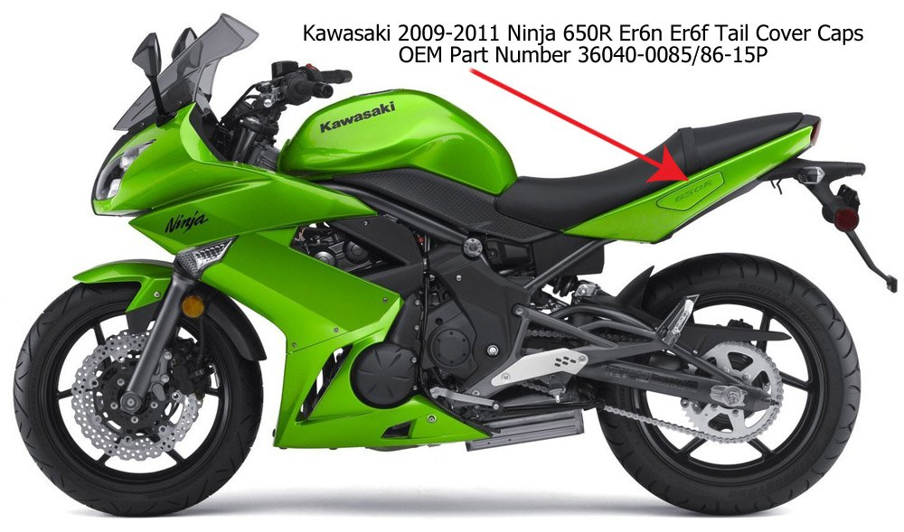 Amazon.com: 2008 – 2011 Kawasaki Ninja 650 Asidero Tail ...