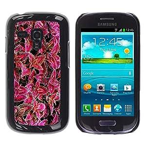 Be Good Phone Accessory // Dura Cáscara cubierta Protectora Caso Carcasa Funda de Protección para Samsung Galaxy S3 MINI NOT REGULAR! I8190 I8190N // Purple Flower Floral Nature