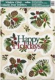Festive Holly Holiday Window Cling Sheet