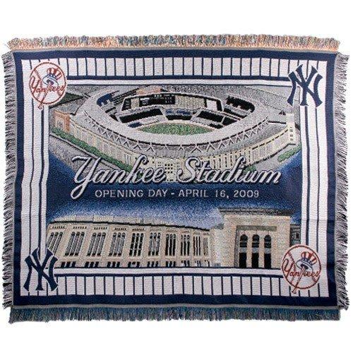 Triple Woven Jacquard Mlb Throw - The Northwest Company New York Yankees Opening Day Yankee Stadium 48'' x 60'' Jacquard Woven Blanket Throw