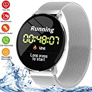 Smart Watch Fitness Tracker Waterproof Sports Smartwatch Heart Rate Monitor Blood Pressure Sleep Monitor Step Counter Pedometer Activity Tracker for Women Men Android iOS Phones