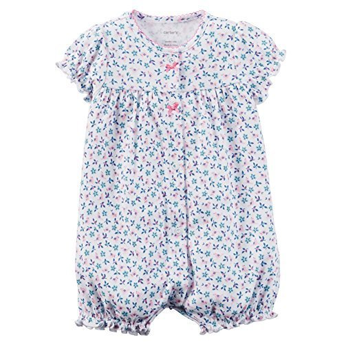491998758ed2 Carters Baby Girls 1-piece Print Snap-Up Romper (12 Months
