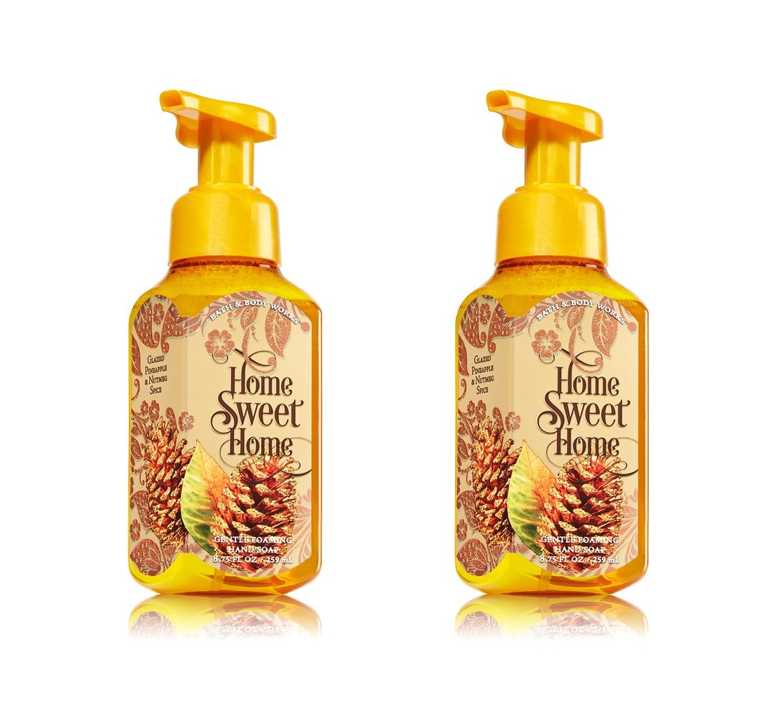 Set of 2 Bath Body Works Home Sweet Home Glazed Pineapple Nutmeg Spice Foaming Hand Soaps