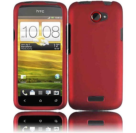 Amazon.com: Rojo Funda Carcasa para AT & T HTC One X: Bastex
