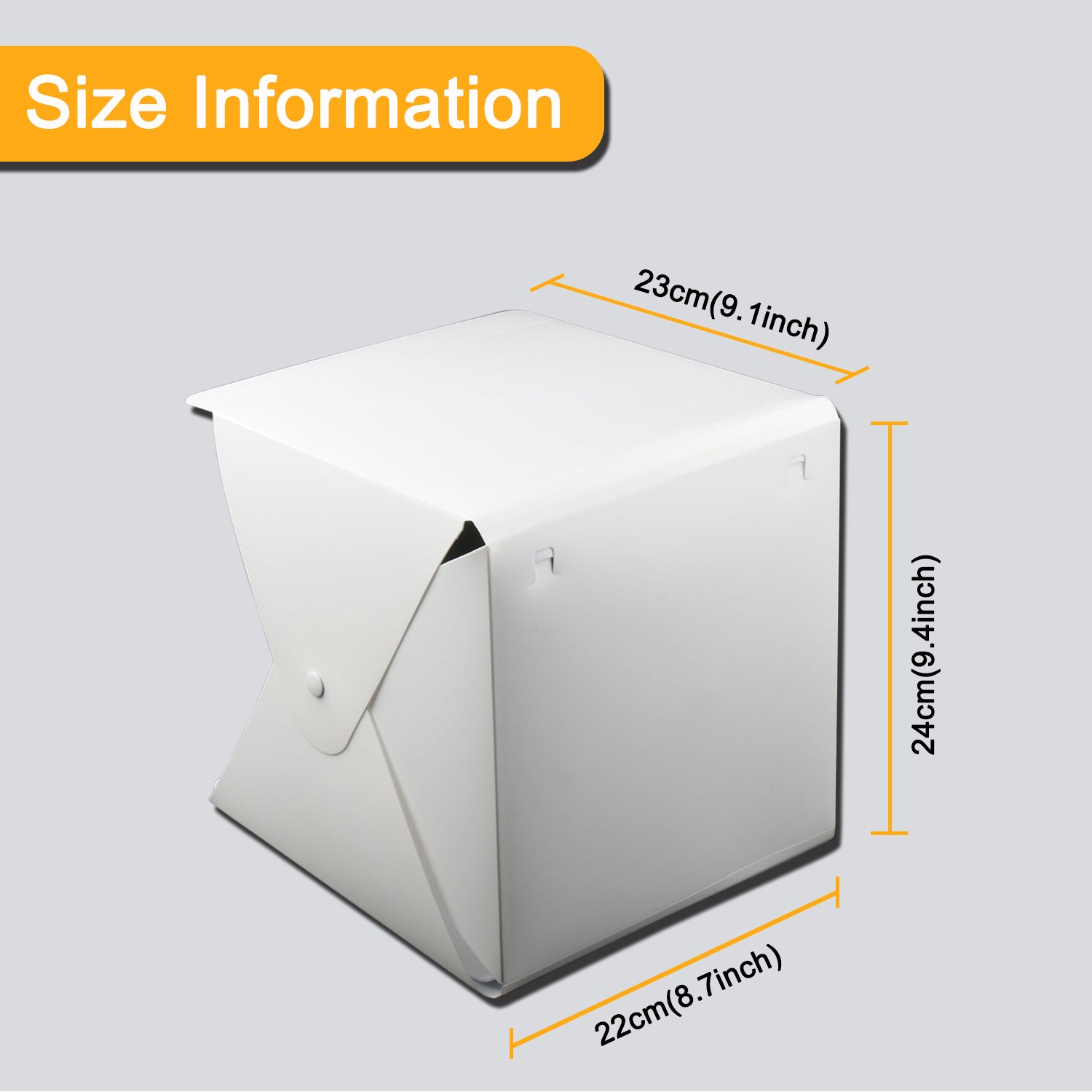 Donwell Portable Photo Studio Tent Light Box Folding Photography Shooting Kit with Adjustable LED Lights and 6 Colors Background New 2018 (Size: 9.8'' x 9.5'' x 9'') by DONWELL (Image #7)