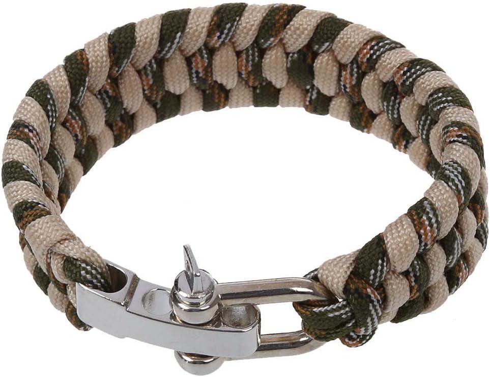 blanco Dcolor 7 Strand Supervivencia Militar pulsera de la cuerda de la armadura de la hebilla