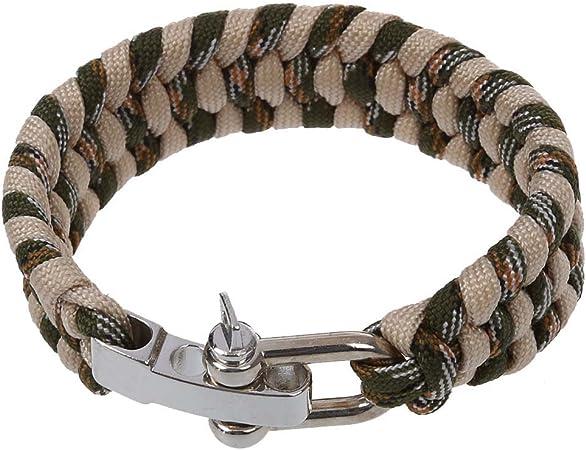 SODIAL(R) 7 Strand Supervivencia Militar pulsera de la cuerda de ...