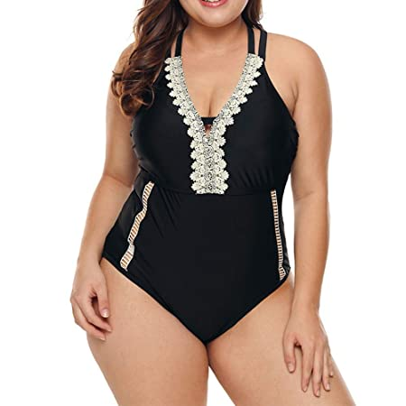 Traje de baño de una Pieza de Bikini Deportivo de Talla Grande ...
