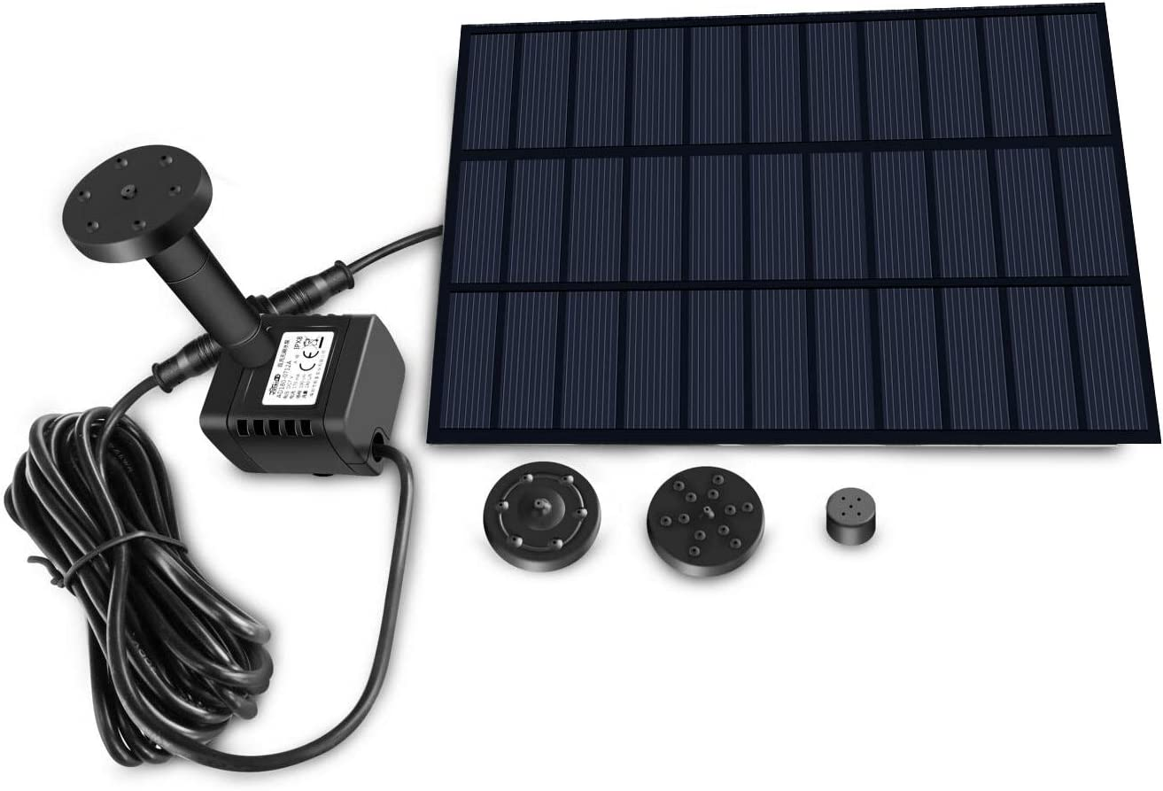 Sunlitec Solar Fountain Panel Water Pump