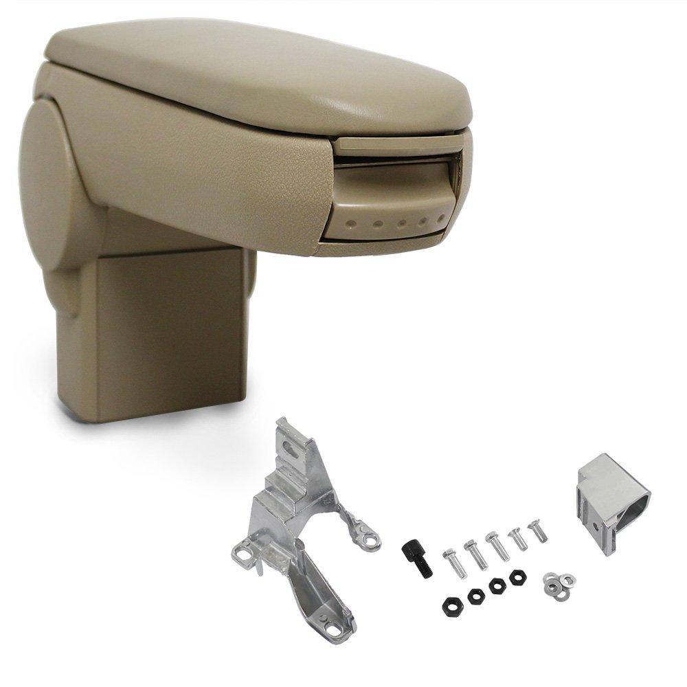 pro.tec acolchado beige polipiel Apoyabrazos con compartimento Reposabrazos central