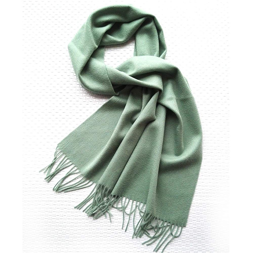 Green Autumn and Winter Solid color Scarf Ladies Variety MultiPurpose Student Warm Scarf (color   Brown)