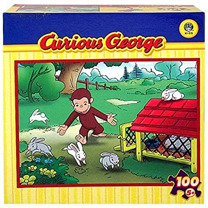 Curious George 100 Piece Jigsaw Puzzle - After the Bunnies