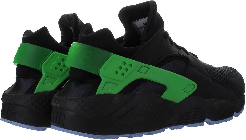 black and green huaraches