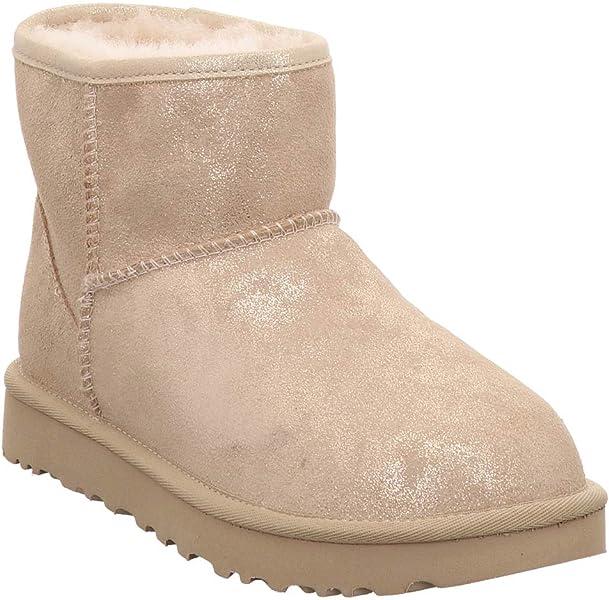 0f85f39c57f UGG - Boots Classic Mini Stardust - Metallic Gold, Size:4 UK: Amazon ...