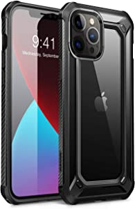 SUPCASE Unicorn Beetle EXO Series Case for iPhone 12 Pro Max (2020 Release) 6.7 Inch, Premium Hybrid Protective Clear Bumper Case(Black)