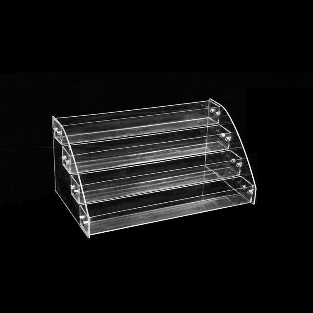 Gorgebuy Scatola di Rossetto Acrilico Trasparente per Trucco da 24 Griglie Scatola di plastica per Smalto Rossetto Antipolvere Scatola di lucidatura a Specchio