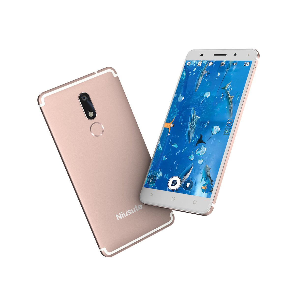 5.5'' 4G FDD-LTE Unlocked Smartphones 2GB/16GB Android 7.0 High-definition camera (13MP+5MP) Nougat with Fingerprint Cellphone Unlocked Gold By Niusute