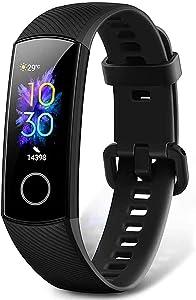 HONOR Band 5 Pulsera Actividad Inteligente Pulsera de Actividad con Pulsómetro SpO2 Sueño Podómetro Monitor de Actividad Deportiva Ritmo Impermeable IP68 Fitness Tracker Smartwatch para Mujer Hombre