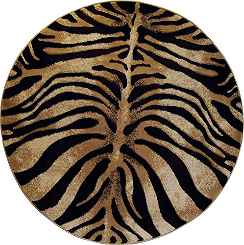 Home Dynamix Tribeca Fawn Area Rug   Modern Living Room Rug   Contemporary Zebra Design   Rich Living Room Colors   Black, Ivory 5'2 (Ivory Contemporary Print)