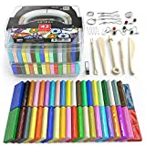 Arts & Crafts : Arteza Polymer Clay Starter Kit, 42 Colors of Oven-Bake, Baking Clay Blocks, 5 Sculpting Tools, and 30 Jewelry Accessories