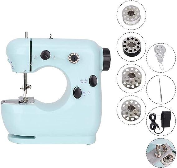 HUKOER Mini máquina de coser linda, máquina de coser eléctrica ...