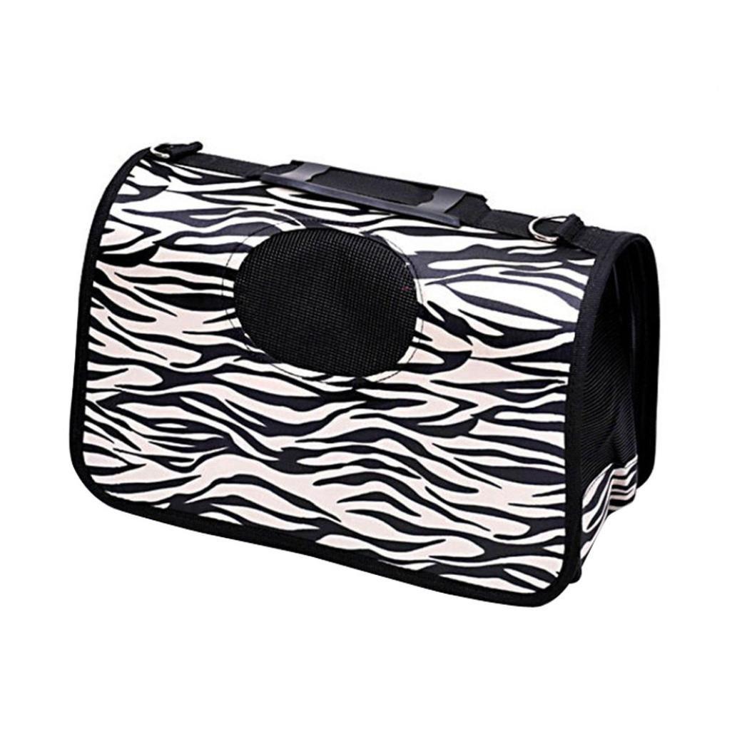 Binmer(TM) Hamster Rat Rabbit Dog Cat Soft Portable Tote Carrier Bag House Kennel Pet Travel Pouch (F)