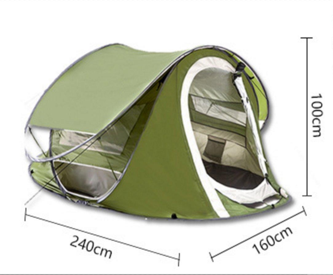 Outdoor-Zelt Automatische Geschwindigkeit Offene Zelte Double Double Door Wasserdichte Tragbare Zelt