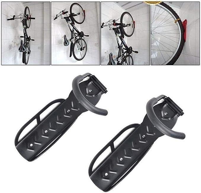 2pcs Bicycle Bike Rack Garage Storage Hanger Hook Holder Shelf Wall Mount