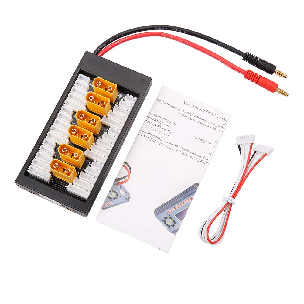 nidici Upgrade XT90 Parallel Charge Board 2S-6S LiPo Balance Board XT90 Plug Connector for RC Quadcopter Multicopter Spare Parts