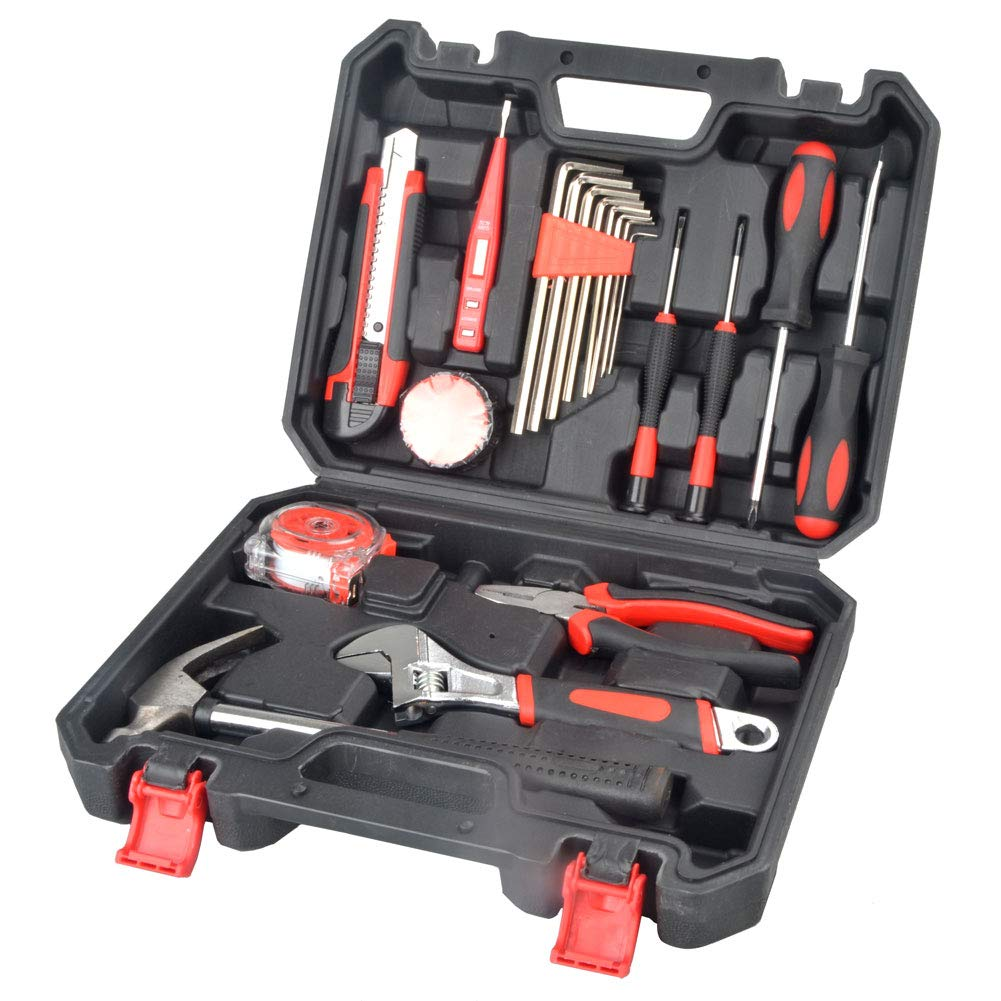 Dr. Prepare 20-Piece Household Basic General Hand Tool Set with Storage Case for DIY Projects and Repairs