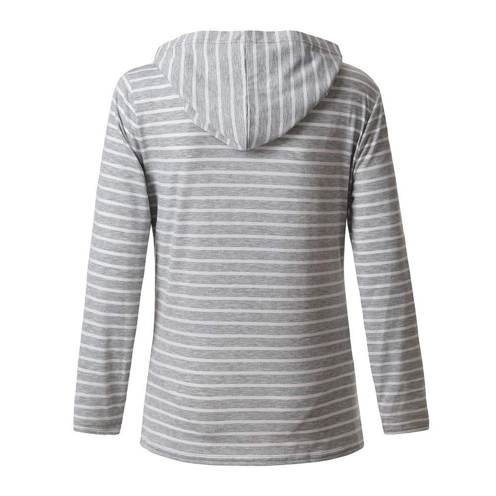 QinMM Sudadera de Lactancia con Capucha Maternidad premam/á para Mujer Camiseta de Dormir Pijama