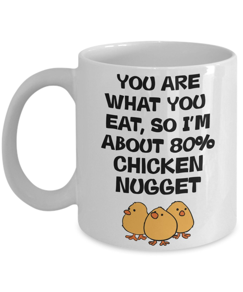 Chicken Nuggets Mug - Gifts for Chicken Nuggets Fans - Funny Novelty Coffee Cup (11oz) Pure Genesis