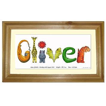 Jungle animal letters framed name print personalised baby gift jungle animal letters framed name print personalised baby gift negle Choice Image