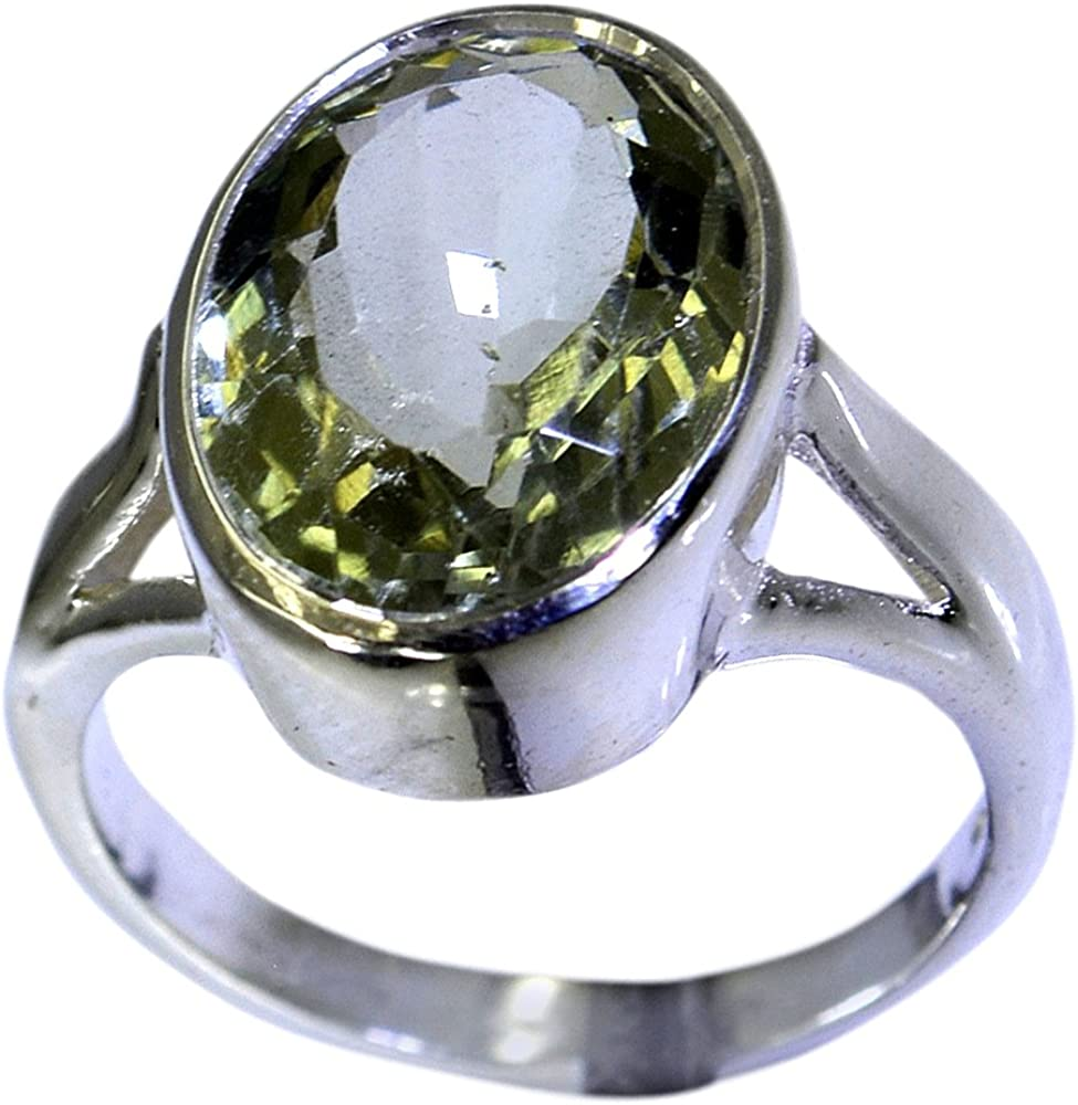 Jewelryonclick Real Green Amethyst Statement Rings For Women 925 Silver Jewelry Size 4,5,6,7,8,9,10,11,12