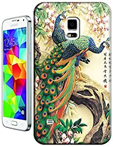 The chinese Painting peafowls beautiful cell phone cases for Samsung Galaxy s5 i9600