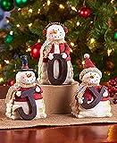 "Snowman ""JOY"" Figurines Christmas Decoration - Set of 3"
