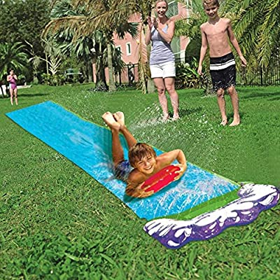 Yunhigh Breakthrough Blast Water Slide, Splash Sprint Backyard Waterslide Toy, Connect to Faucet, Lawn Summer Water Toy for Kids Child 3+ (Single Slide) 188''X27.55'': Sports & Outdoors