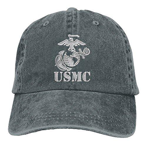 Eagle Globe Anchor USMC Marine Corps - Embroidered Retro Denim Baseball Hat Trucker Hat Dad Hat Adjustable