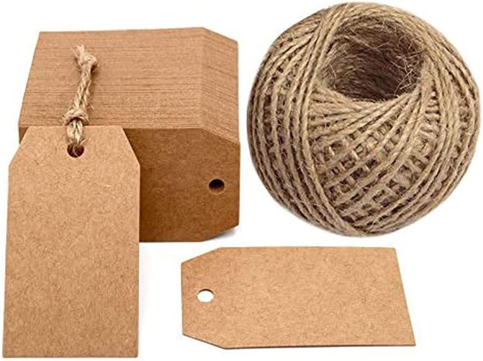 50Pcs Weihnachts-Kraftpapier-Geschenkanhänger Jakobsmuschel-Etikett String N6L8