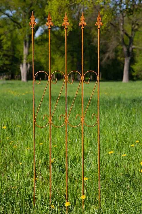 kuheiga Enrejado Metal 163 cm x 47 cm Hierro Oxidado. celosía ...