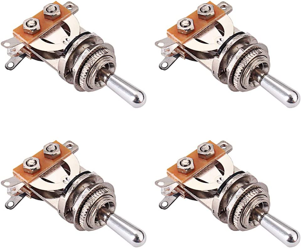 4pcs Aluminium Alloy Electric Guitar 3 Way Pickup Selector Toggle Switches