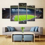 Canvas Art Soccer Football Sports Themed Canvas Wall Art for Boys Room Baby Nursery Wall Decor Paintings Kids Room Basketball Boys Gift With Stretched Framed