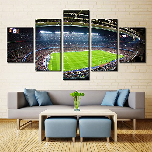 - Canvas Art Soccer Football Sports Themed Canvas Wall Art for Boys Room Baby Nursery Wall Decor Paintings Kids Room Basketball Boys Gift with Stretched Framed