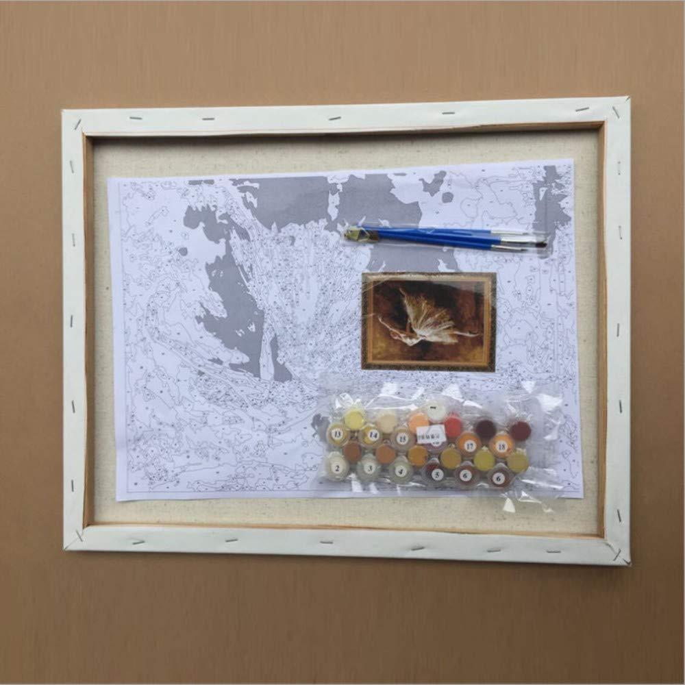 Yyboo DIY Malen Malen Malen Nach Zahlen Digitale Leinwand Ölgemälde Geschenk Erwachsene Kinder Kits Home Decorators - Hund Lesen Zeitung (Holzrahmen) B07PGPDFHZ | Am praktischsten  b38b30