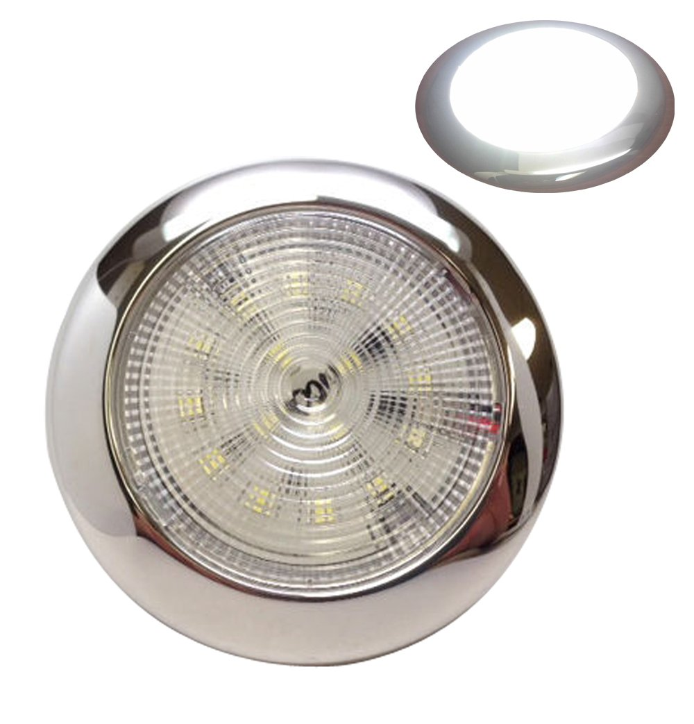 MARINE BOAT LED BRIGHT DAYLIGHT SLIM CEILING LIGHT ODM POLISHED STAINLESS STEEL